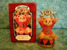 San Francisco Music Box Musical Ornament~1996~Joy~Bear~Ch ristmas Medley~Iob