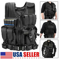 Military Tactical Vest Breathable Army Molle Combat Hunting CS Field Training