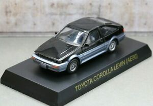 Kyosho 1/64 Toyota Sport Car Collection Corolla Levin GT-Apex 1983 Black/Silver