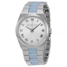 Michael Kors MK 6150 Channing Silver + Blue Tone Ladies Watch rrp £259
