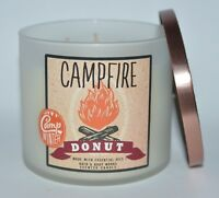 BATH & BODY WORKS CAMPFIRE DONUT SCENTED CANDLE 3 WICK 14.5OZ LARGE DOUGHNUT