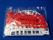 Micro Knex Track 21 Red White Straight Curved Pieces Roller Coaster Parts Lot