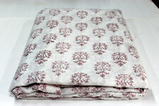 5 Yards soft Cotton Indian Fabric Red Flower Soft Hand Block Fabric white Base