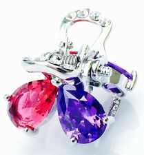 USA QUALITY Hair Claw Clip using Swarovski Crystal Hairpin Wedding Pink Purple