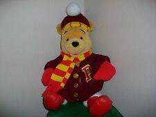 "Disney World Winnie the Pooh Winter Sweater Scarf Boot Hat Plush Doll 15"" Bear"