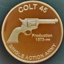 100 COLT 45 REVOLVER DESIGN 1 OZ Ounce Of Copper Bullion ROUNDS lot # C129