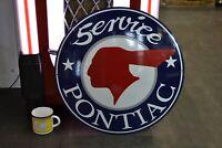 PLAQUE EMAILLEE Pontiac service 50 cm