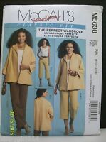 McCall's Pattern M5638 Misses Jacket Top Pants Sz BB (8-14) Palmer Pletsch New