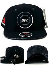 UFC Reebok New RBK MMA Black Red Gray Octagon Fighter's Era Snapback Hat Cap