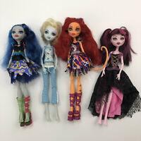 Monster High Lot of 4 Dolls Draculaura Toralei Dead Tired Ghoulia Sweet Screams