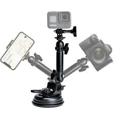 Action Camera Smartphone Suction Cup Race Car Cockpit Mount Motion Camcorder ...