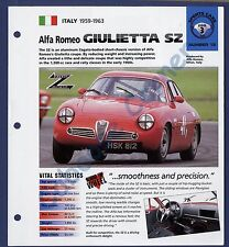 Alfa Romeo Giulietta Sz IMP Brochure Specs 1959-1963 Group 3, No 15