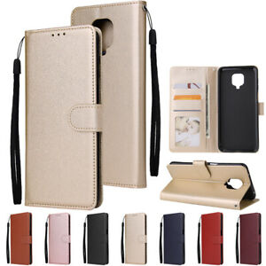 Leather Case For Xiaomi Redmi 9A 9C Note 9 Pro Max K30 Pro Shockproof Thin Cover