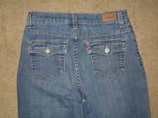 Levi's 512 Size 6 Short Perfectly Slimming Bootcut Flap Pocket Stretch Jeans