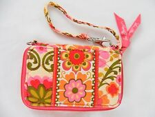 EUC ~ Vera Bradley FOLKLORIC Zip Around Carry it All Wristlet Wallet Tech Phone