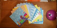Blue & Yellow Birthday Wishes 6x6 Scrapbook Paper Pack Assorted Sheets