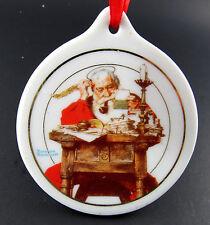 Vintage Jcpenny 1996 Porcelain Santa Reading Letters Ornament (E12)
