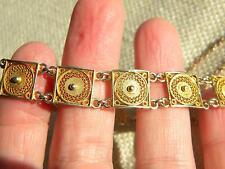 "Filigree bracelet SILVER 800 stamped 6.5"" = 17cm long ~  beautiful Italian"