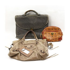 MCM Bottega Veneta Balenciaga Leather PVC Hand/Shoulder Bag 3 pieces set 523992