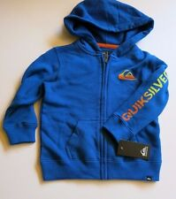 NWT Quiksilver Toddler Boys 24M Blue Hooded Sweatshirt Warm Winter Logo 24 Month