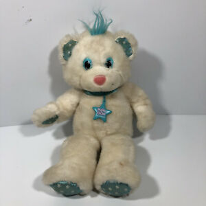 VINTAGE APPLAUSE MAGIC GLOW FRIEND WHITE PLUSH TEDDY BEAR + Necklace  RARE ~1992