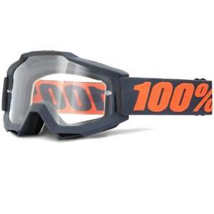 100% Accuri Goggles (Matte Gunmetal/Clear Lens)