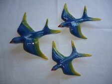 CERAMIC FLYING WALL DUCKS , SWALLOWS  , RETRO DECO