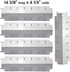 Stainless Steel Grill Heat Plates for Char-Broil Nexgrill Master Forge 5-Pack