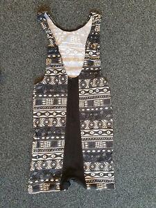 Herren Body-Suit, Einteiler, Movements, schwarz/braun/weiß, Größe 6