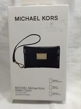 NIB Michael Kors Black Python Embossed  iPhone 4 Case Clutch Wallet Wristlet