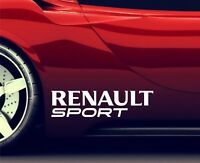 2x Seitenaufkleber Aufkleber Passt Renault Sport Sticker Emblem Logo ER84