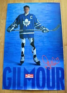 DOUG GILMOUR COW POSTER  TORONTO MAPLE LEAFS EARLY 1990'S DAIRY INDUSTRY