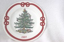Spode Christmas Plate 1997 Red Ribbon Design S3324W 50 Excellent Condition