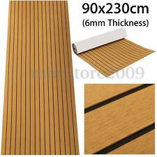 "Flooring Synthetic EVA Foam Teak Sheet Boat Decking Self-Adhesive 35"" X 91"" 6MM"