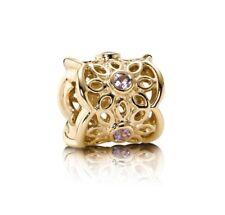 NEW! Authentic Pandora 14K Gold Golden Radiance Sapphire Charm #750803PSA w/Box