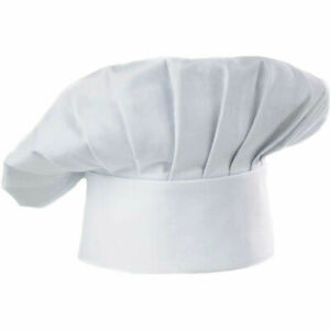 Adul Chefs Hat Baker Professional Elastic Adjustable Men Women Cook Cap White