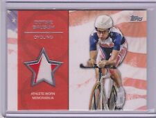RARE 2012 TOPPS OLYMPIC DOTSIE BAUSCH SILVER RELIC CARD ~ 2 COLOR 02/50 CYCLING