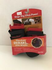 ULTRA PAWS GEAR FOR DOGS SIZE PETITE NWT DURABLE RED & BLACK PAWTECTORS