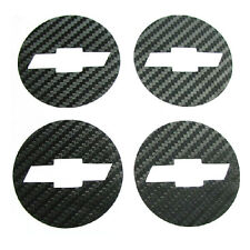 Carbon Fiber Wheel Center Hub Caps Sticker Chevrolet Chevy Cruze 4pcs 2011 2012