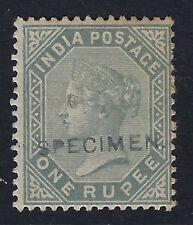 INDIA:1883 one rupee slate overprinted SPECIMEN SG101 mint