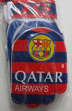 Kid's Barcelona FC Football Soccer Goalkeeper Gloves, New Burgundy Goalie Sz 8