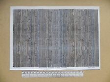 """G gauge (1:24 scale) """" Wood planking - weathered """" -  paper- A4 sheet"""