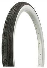 """2X DURO 20"""" BMX Dragster Bike Tyre -  20"""" x 1.75"""" - White Wall - Retro Vintage"""