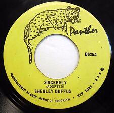 SHENLEY DUFFUS 45 Sincerely 1972 Ska Reggae JA press G44