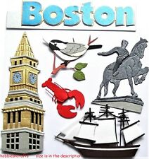 EK SUCCESS JOLEE'S BOUTIQUE 3-D STICKERS USA AMERICA PILGRIMS TEA PARTY - BOSTON