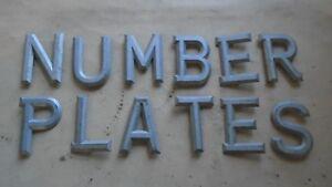 "HILLS HILPEAK ALUMINIUM NUMBER PLATE DIGITS / LETTERS  3 1/8"""