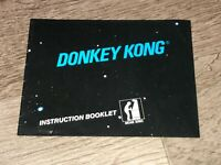 Donkey Kong Instruction Manual Booklet Nintendo Nes Authentic