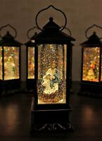 Battery Operated Lighted Water Snow Glitter Globe Christians Lantern Decor Jesus