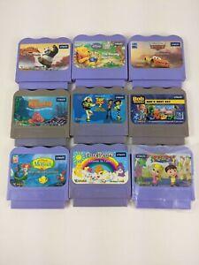 Vtech VSmile Game Cartridges Toy Story Bob Builder Thomas Mermaid Cars Nemo Pooh