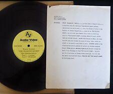 "12"" RADIO SPOT RECORD PROMO ONLY Fernando Lamas Arlene Dahl Film Diamond Queen"